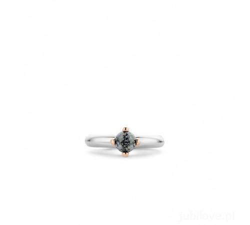 Pierścionek Ti Sento Srebrny Szaro-Niebieski Kryształ