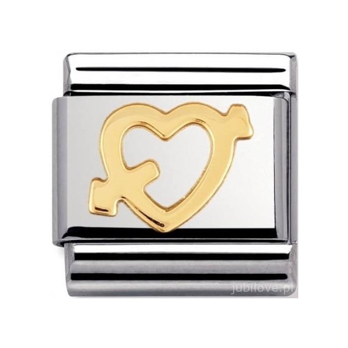 Nomination Element Link Gold Love Heart With Arrow Serce ze Strzałą