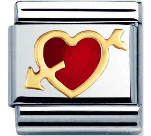 Nomination Element Link Gold Love Heart Serce ze Strzałą Z Emalią