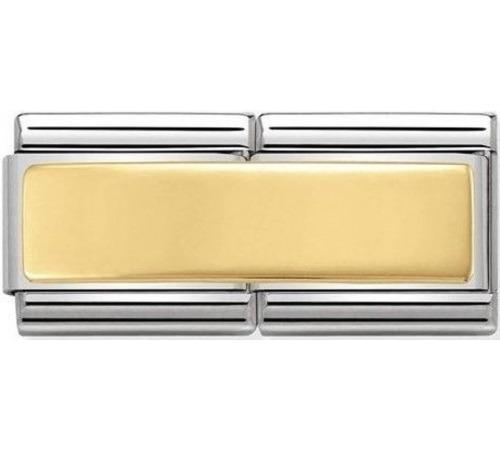 Nomination Element Link Gold Double Podwójny Gładka Płytka Grawer