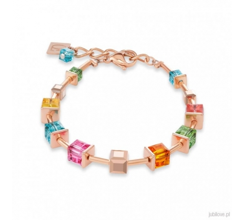 Bransoletka Coeur De Lion Rose Gold Multicolor