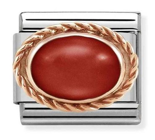 Nomination Element Link Rose Gold Czerwony Koral