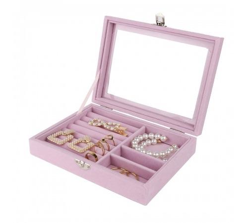 Szkatułka Pudełko Na Biżuterię Pudrowy Róż